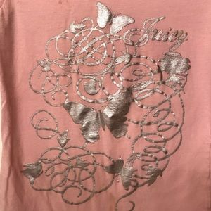 🦋juicy pink butterfly tee- size small🦋